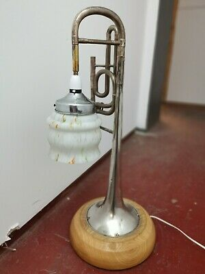 B&H Boosey & Hawkes imperial instrument Table Lamp steampunk trumpet trombone