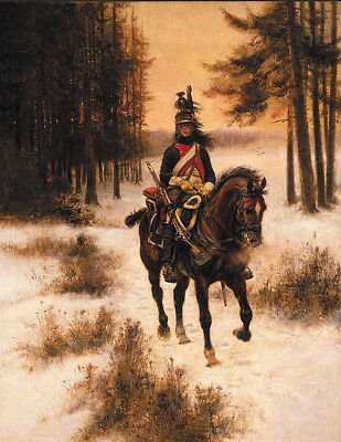 """perfect oil painting handpainted on canvas""""A soldier riding on a horse""""@6762"""