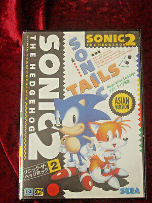 SONIC 2 ASIAN PAL SEGA MEGA DRIVE GAME 1992 Sonic the Hedgehog +Booklets
