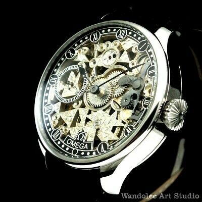 OMEGA Vintage Men's Wristwatch Skeleton Stainless Steel Mens Wrist Watch Swiss