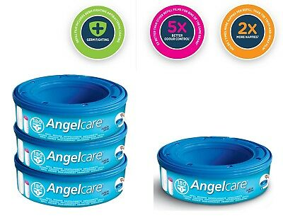 Angelcare Nappy Refill Cassettes Disposal System Wrappers Bags Sacks