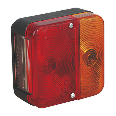 Rear Square Lamp Cluster 12V with Bulbs | SEALEY TB18 by Sealey | New