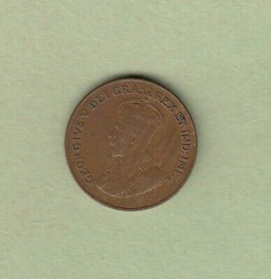 1922 Canadian One Cent Coin - Key Date - Fine