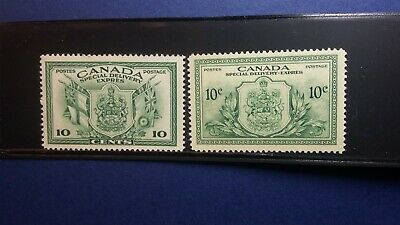 Canada #'s E10 & E11 VF/XFmnh 10c Special Delivery stamps CV $16