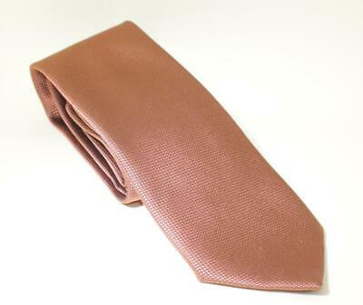 9503fc8e99a6 VINTAGE CHARVET PLACE VENDOME COPPER SHARKSKIN MEN'S SILK TIE w/ORIG PRICE  TAG