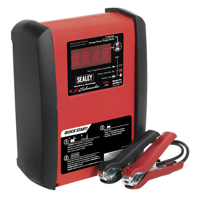 Schumacher Intelligent Speed Charge Battery Charger 15Amp 12V | SEALEY SPI15S by