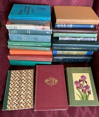 Lot of 10 Random Vintage Old Rare Antique Hardcover Books - Great for Decorating
