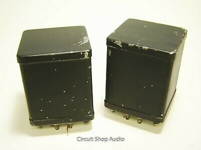 Pair of Vintage Peerless Potted Style Power Supply Chokes -- KT