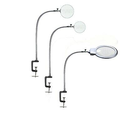 Quality Optics USA® LED Table Clamp Mount Magnifier Lamp Light Magnifying Glass
