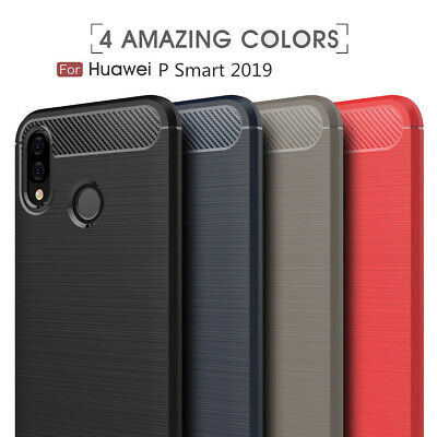 For Huawei P Smart 2019 Case P30 Pro Luxury Silicone Brushed Shockproof Cover