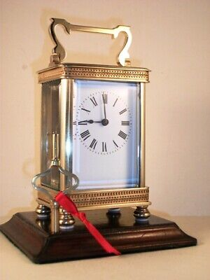 Antique French carriage clock C1895. With key. Restored & serviced in July 2019.