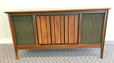 Mid Century Modern RECORD CONSOLE vintage cabinet credenza stereo player 1960s