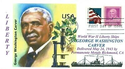 GEORGE WASHINGTON CARVER Ship named: Research Botanist First Day of Issue PM