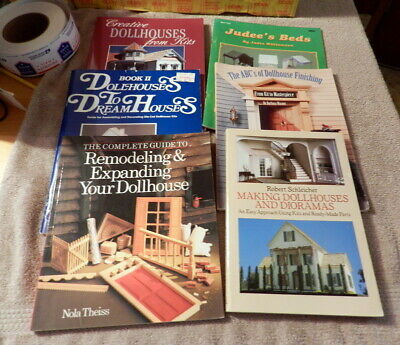 Dollhouse Doll House Building Remodeling Books Minatures Room 6 Book lot