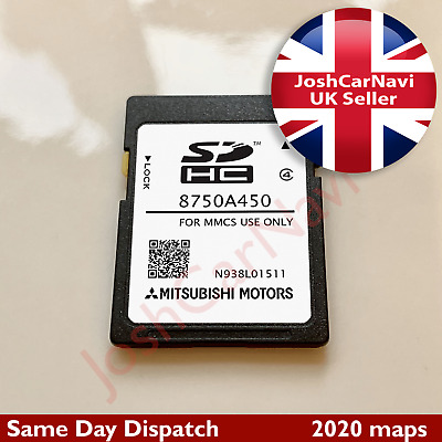 Mitsubishi MMCS SD CARD NAVIGATION SAT NAV MAP EUROPE 8750A450 2019