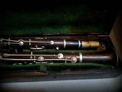 An Antique Wooden Clarinet S.A. Chappell Sole Agent in Original Case