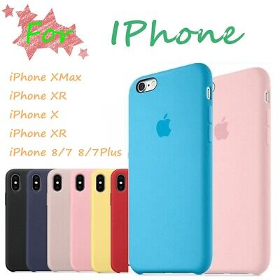 Genuine Official Shockproof Silicone Case Cover for iPhone XS Max XR 8 7 6s Plus