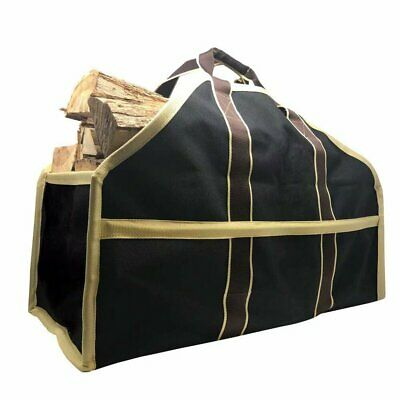 16 Gallon Large Canvas Log Tote Bag Carrier Indoor Fireplace Firewood Totes