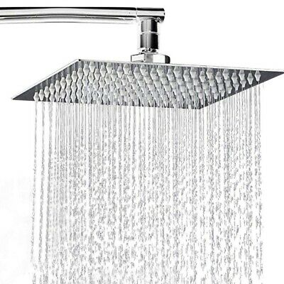 "8"" 10"" 12""  Round/Square Shower Head Chrome Stainless Steel Rainfall  Overhead"