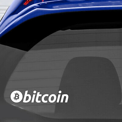 Bitcoin Title Logo Cryptocurrency Car Windscreen Window Vinyl Funny Sticker 565