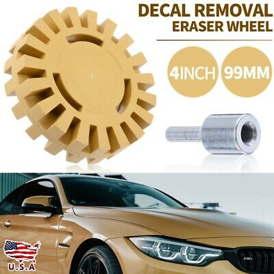 Decal and Graphic Remover Neiko 30095A 4-Inch Rubber Eraser Wheel 2-Pack for Adhesive Pinstripe Comes with 5//8-Inch Hex Shank Adapter Sticker