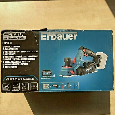 ERBAUER Planer EHP18-LI 18V LI-ION EXT BRUSHLESS CORDLESS  - Body Only *BOXED*