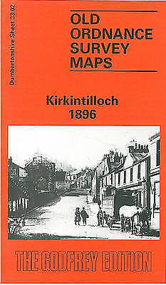 OLD ORDNANCE SURVEY MAP Kirkintilloch 1896: Dumbartonshire Sheet 33.02