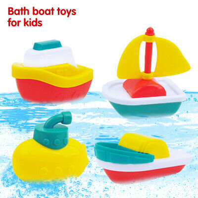 Baby Toddler Bath Boat Toys Squirts Submarine Yacht Water Time Squirting Ships