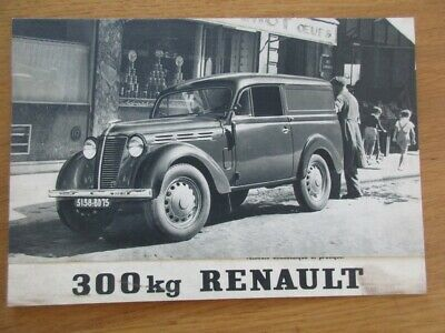 Catalogue Pub  Original Renault 300 Kg Juvaquattre 1950