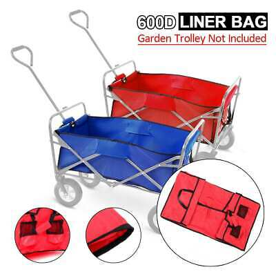 Folding Wagon Bag Garden Collapsible Outdoor Camp Storage Trolley Liner For Cart
