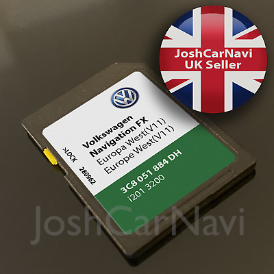 LATEST! VW VOLKSWAGEN V11 FX RNS310 SD Card Sat Nav Map Navigation 2019 - 2020