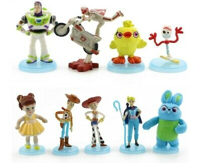 Toy Story 4 Woody Jessie Bo Peep Forky Figure Play Set Cake Topper Stand Gift