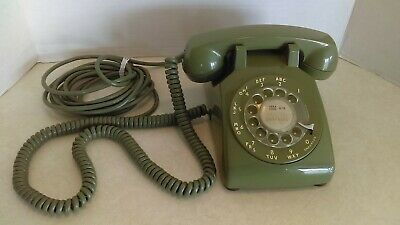 1968 Western Electric Green Rotary Dial Desk Top Telephone CD 500 Complete Works