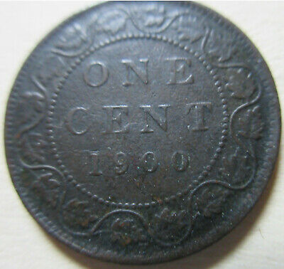 1900 H Canada Large Cent Coin. BETTER GRADE (RJ562)