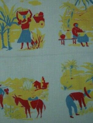 Vintage Tablecloth Mexican