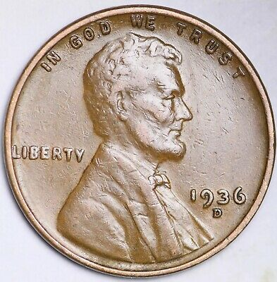 1936-S LINCOLN WHEAT CENT PENNY Very Nice Coins Free Shipping Lot 1