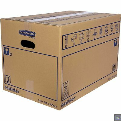 SmoothMove Double Cardboard Moving Storage Boxes 67 Litre, 35 x 35 x 55(10 Pack)