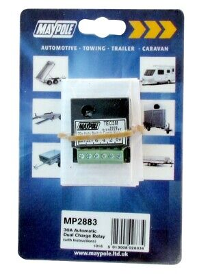 Automatic Dual Charge Relay - 30A 2883 MAYPOLE