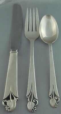 S WOODLILY BY  FRANK SMITH 4PC STERLING PLACE SETTING