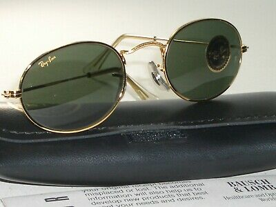 Vintage B&l Ray-Ban W0976 G15 24K Gold Electroplated Oval Aviator Sunglasses New