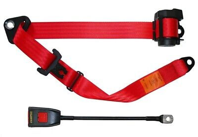 Seat Belt - Auto Lap & Diagonal - Red SECURON 500/15RED