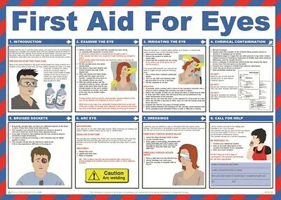 First Aid For Eyes Poster - 59cm x 42cm A602T SAFETY FIRST AID