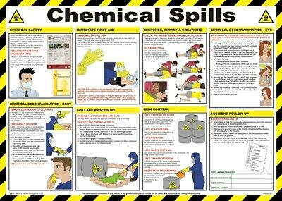 Chemical Spills Poster - 59cm x 42cm A608T SAFETY FIRST AID