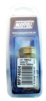 1/4in. Slim Female Coupling 74604A MAYPOLE