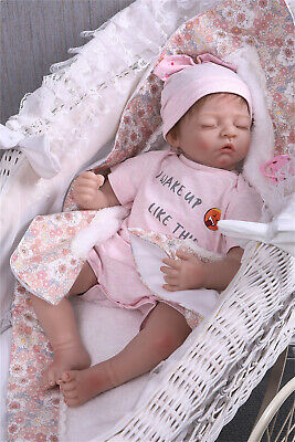 """22"""" Cheap Real Look Newborn Reborn Baby Girl Vinyl Silicone Dolls Gifts for Kids"""