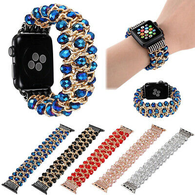 For Apple Watch Series 4 44MM Bling Agate Beads Strap Bracelet Band iWatch 1 2 3