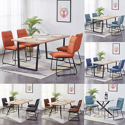 Miraculous 2X Dining Chairs Velvet Fabric Padded Seat Metal Legs High Gmtry Best Dining Table And Chair Ideas Images Gmtryco