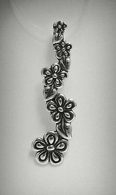 New Sterling Silver Pendant Hallmarked Solid 925 Flower Perfect Quality Empress