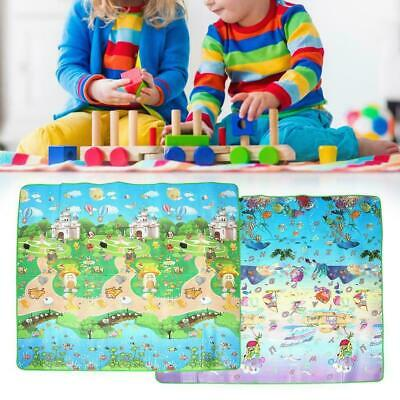 Baby Kids Infant 2 Side Playmat Game Pad for Crawling Play Mattress Crawling Mat