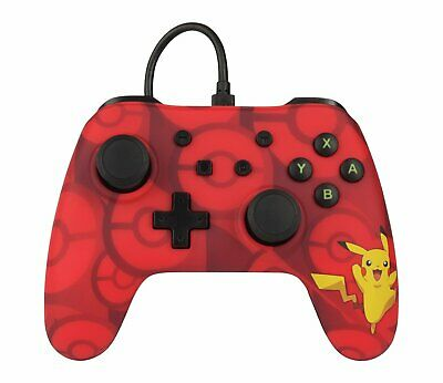 Nintendo Switch Pro Style 10ft Wired USB Controller - Red Pikachu